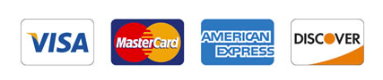 Debit and credit cards accepted